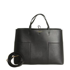 Tory Burch Block T Black Leather 2- Way Bag 185625